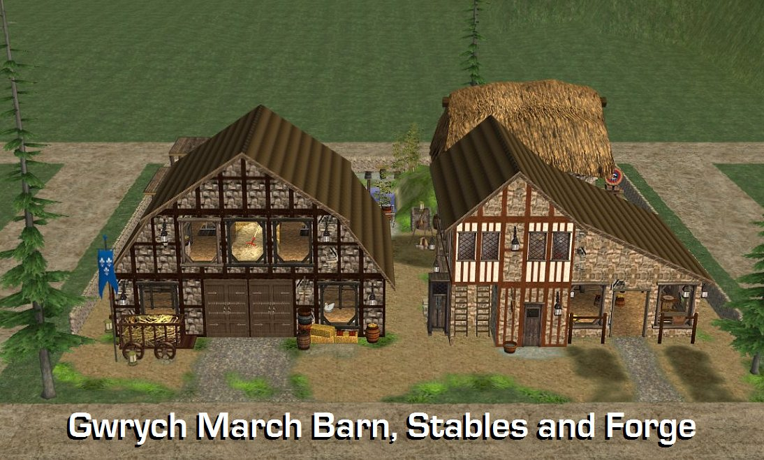 Mod The Sims Gwrych March Set Four 6 Community Lots