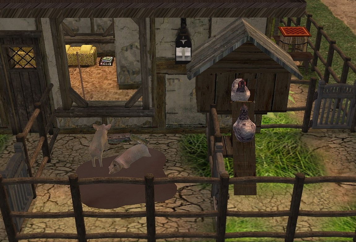 Mod The Sims Gwrych Barony 1x2 Merchant Cottage Potter