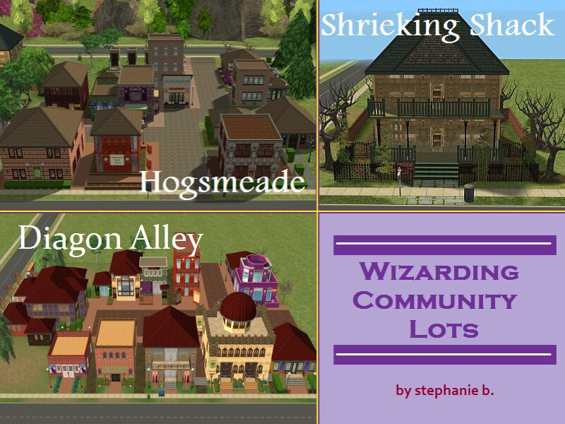 Mod The Sims Harry Potter Collection Hogsmeade Village