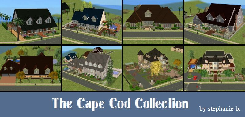 Mod the sims the cape cod collection 8 lots for Case modello cape cod