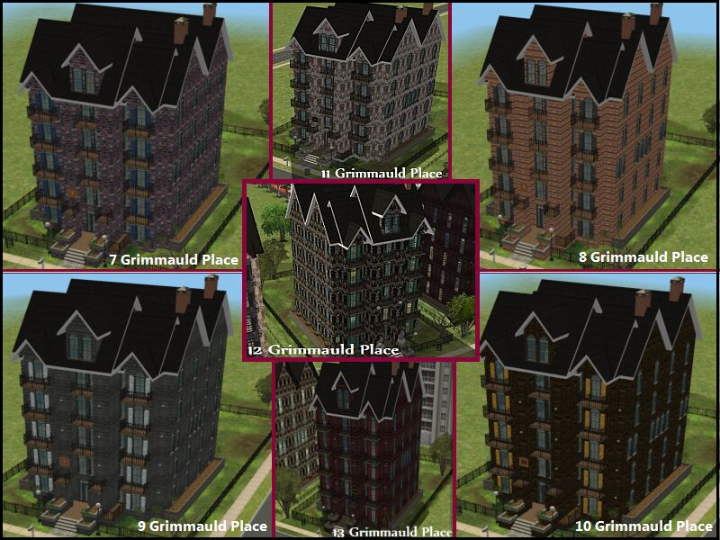 Mod the sims harry potter collection grimmauld neighborhood for 12 grimmauld place floor plan