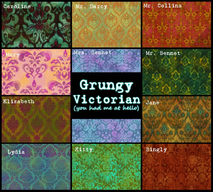 Mod the sims grungy victorian you had me at hello 11 pattern set