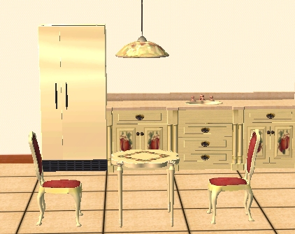 Mod the sims apple themed kitchen set for Apple themed kitchen ideas