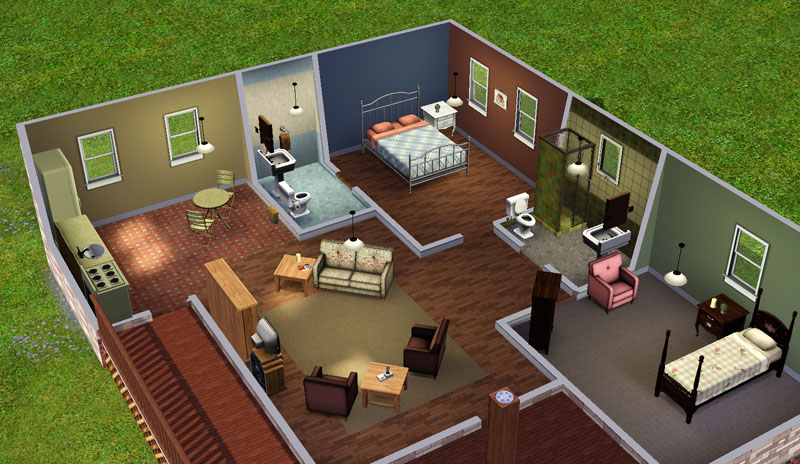 Mod The Sims Charming Country Cottage 2 Bed Bath