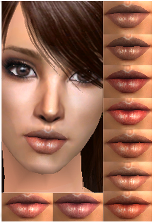 Mod The Sims - Plumping Lipstick - 9 shades