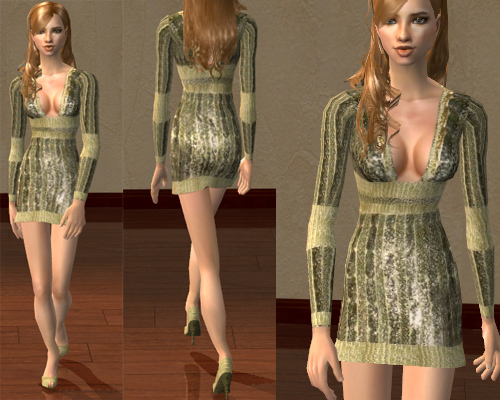 Mod The Sims 2 New Meshes Dress Gucci Recolors