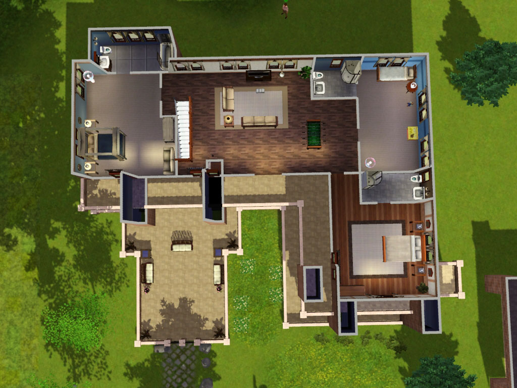 Mod the sims the prairie house no cc for Sims 4 house design layout