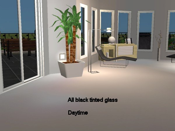 Mod The Sims The Black Tinted Glass Set
