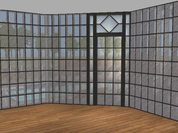 Mod The Sims Glass Block Wall Set