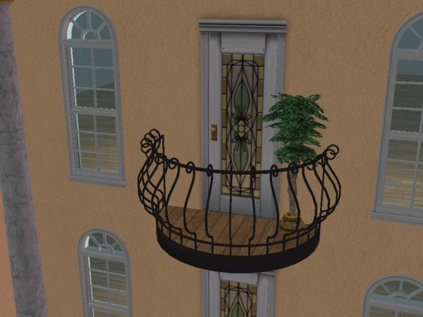 Mod the sims the oh l l balcony french style requested for Balcony french