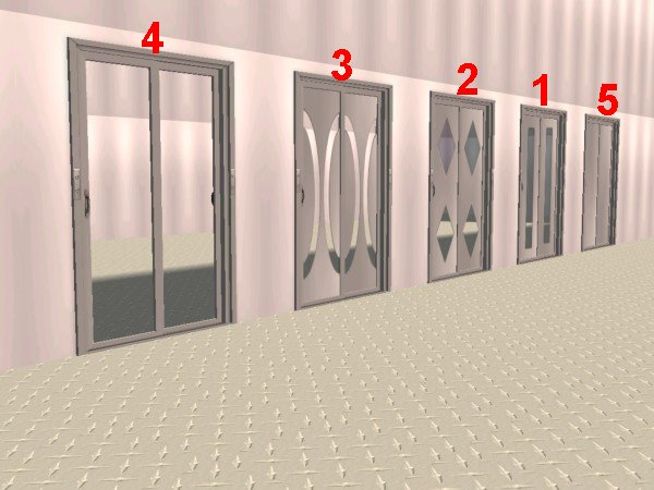 Mod The Sims Fake Elevator Set 2 Stainless Steel
