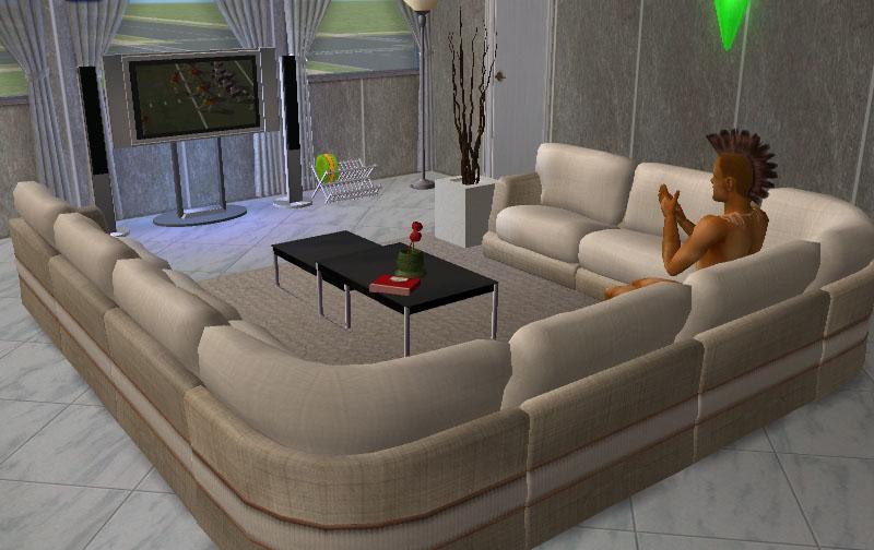 Mod The Sims - Modular Sofa Set v1 - 5 Pieces