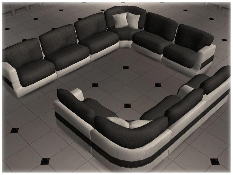 Mod the sims modular sofa set v1 5 pieces for Mods sims 4 muebles