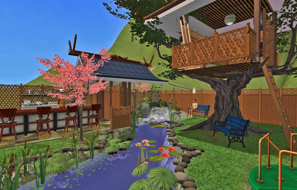 mod the sims totoro u0027s treehouse community park and beer garden