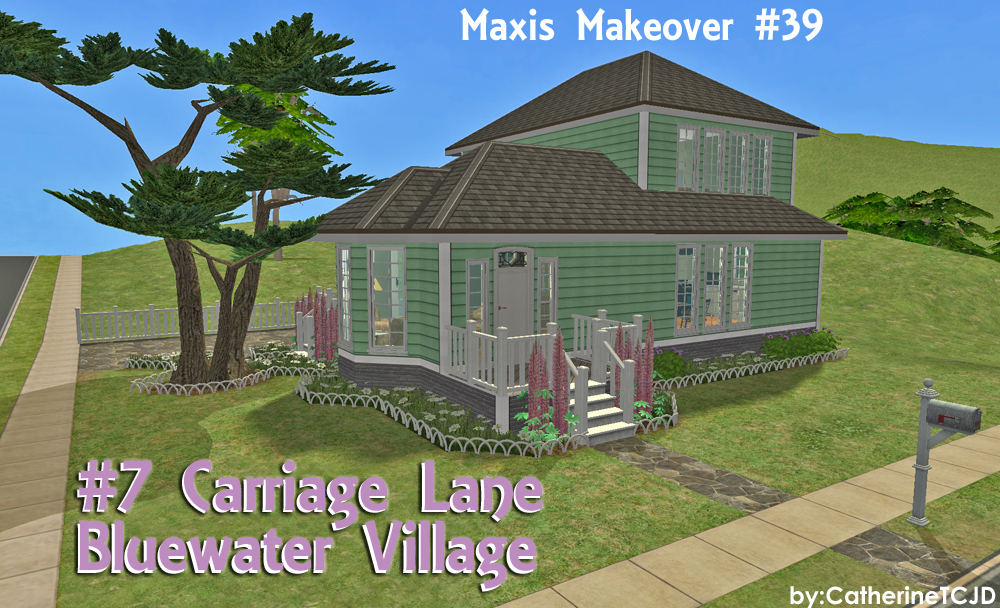 Mod The Sims - #7 Carriage Lane, Bluewater Village ~ Maxis