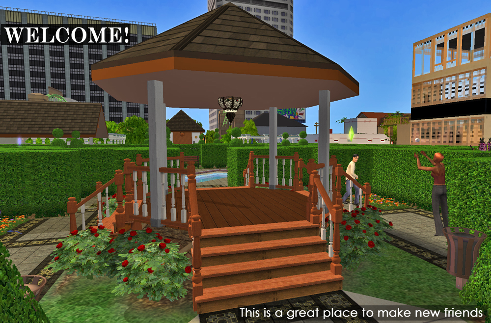 Mod The Sims - Lost in Love Hedge Maze, Downtown ~ Remake with lots