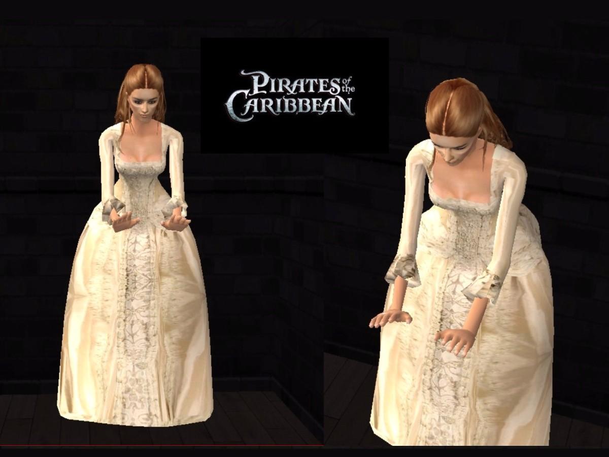 Mod The Sims - POTC2: Elizabeth Swann\'s Wedding Gown