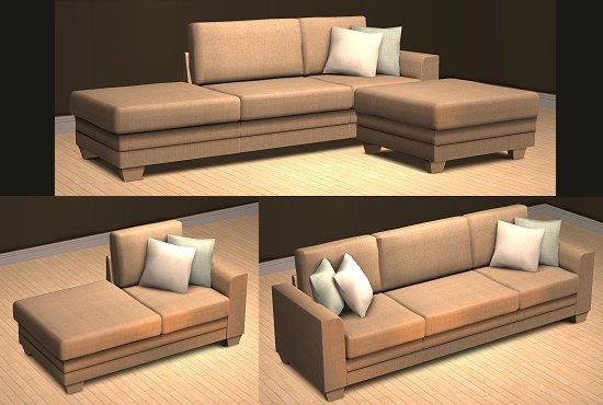 Modulares Sofa mod the sims modular sofa updated 22 nov 2007