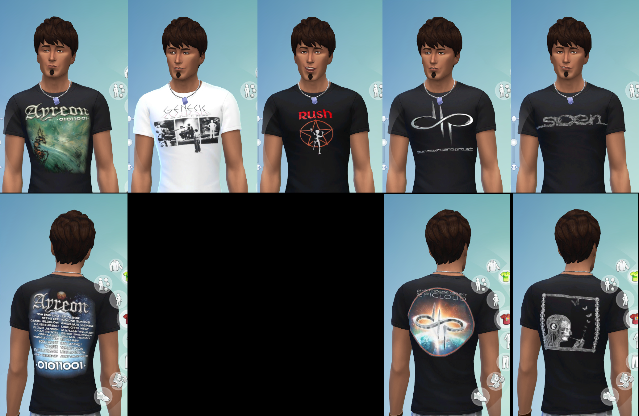 Mod The Sims Progrock T Shirts For Teen Elder Male Female Sims