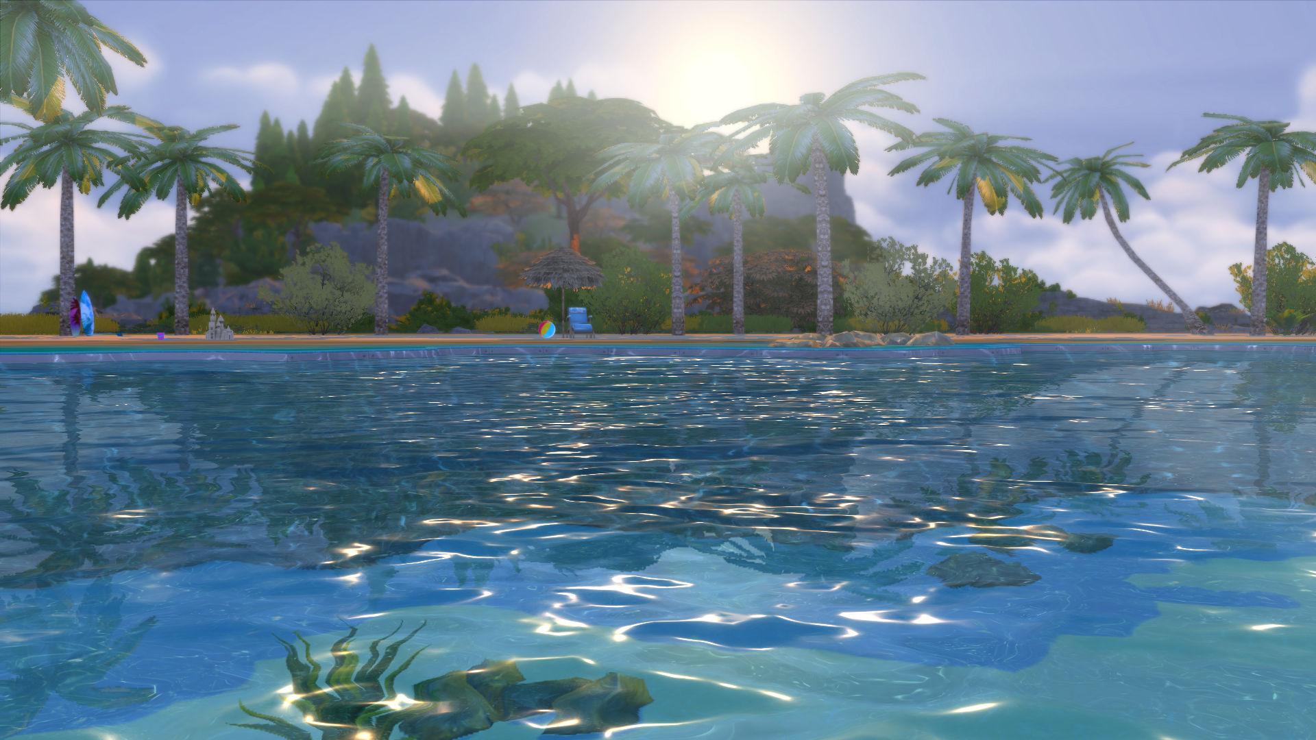 sims 2 how to make a beach