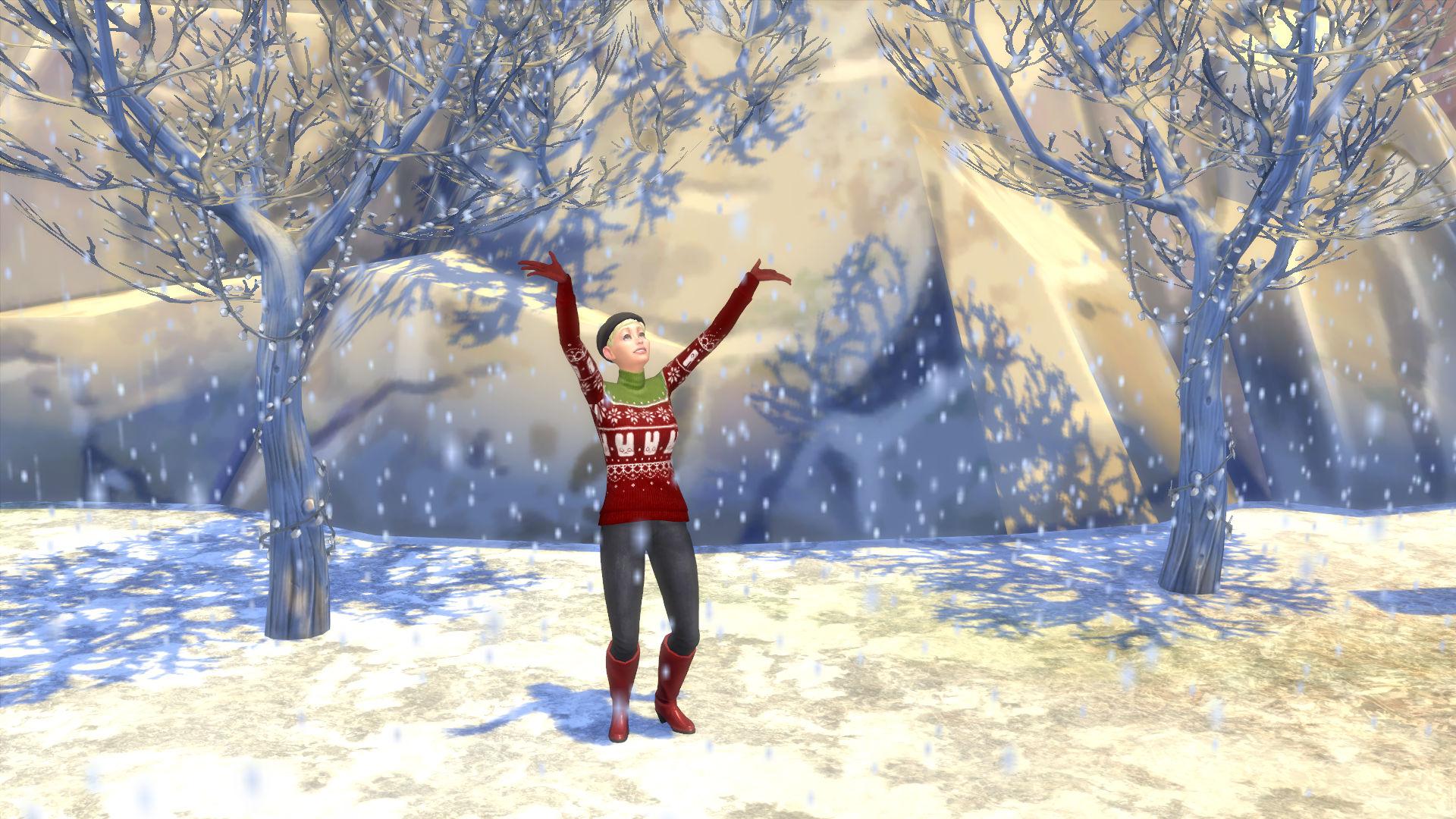 mod the sims animated rain and snow