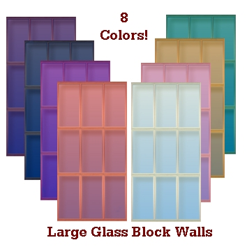 Mod the sims large glass block tiles for Large acrylic block