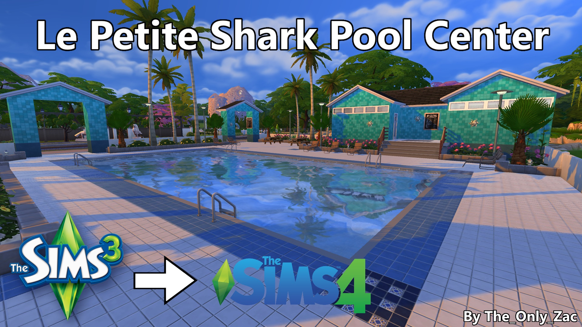 Mod the sims le petite shark pool center ts3 to ts4 for Pool designs sims 4