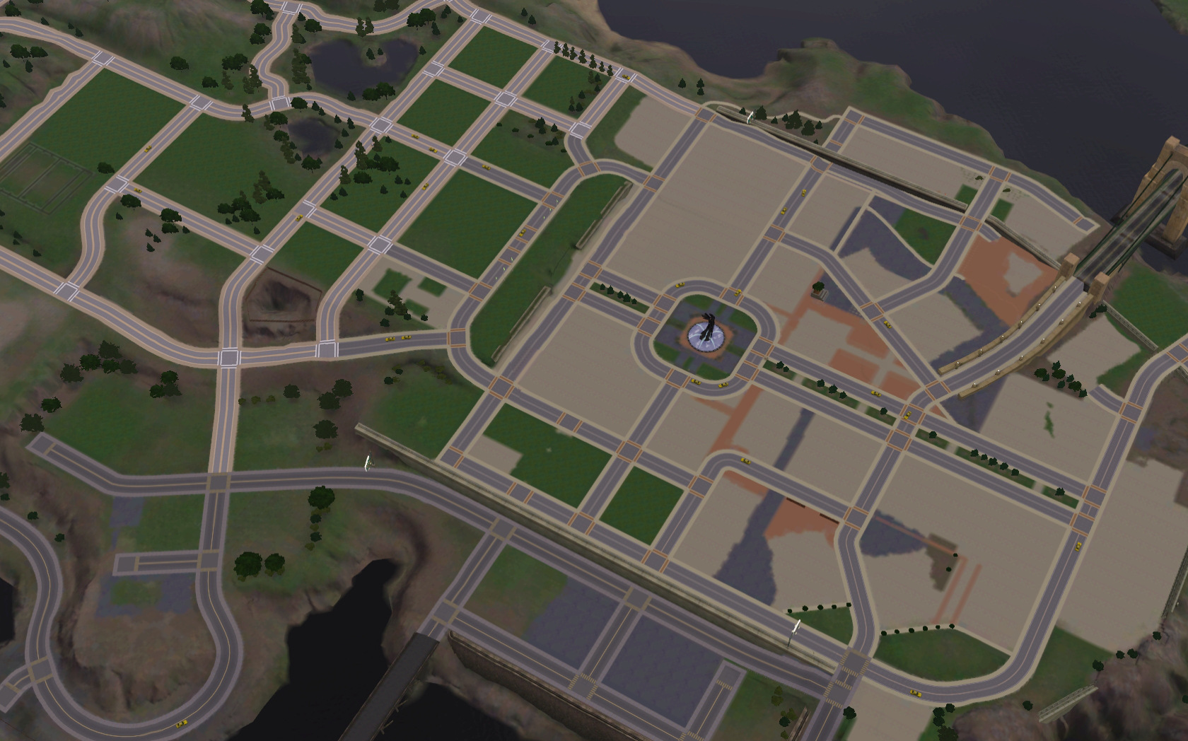Mod The Sims Bridgeport EMPTIED - Blank world map sims 3