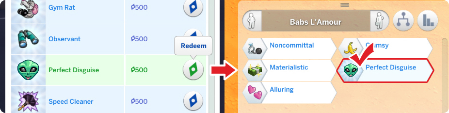 sims 4 how to change sims traits
