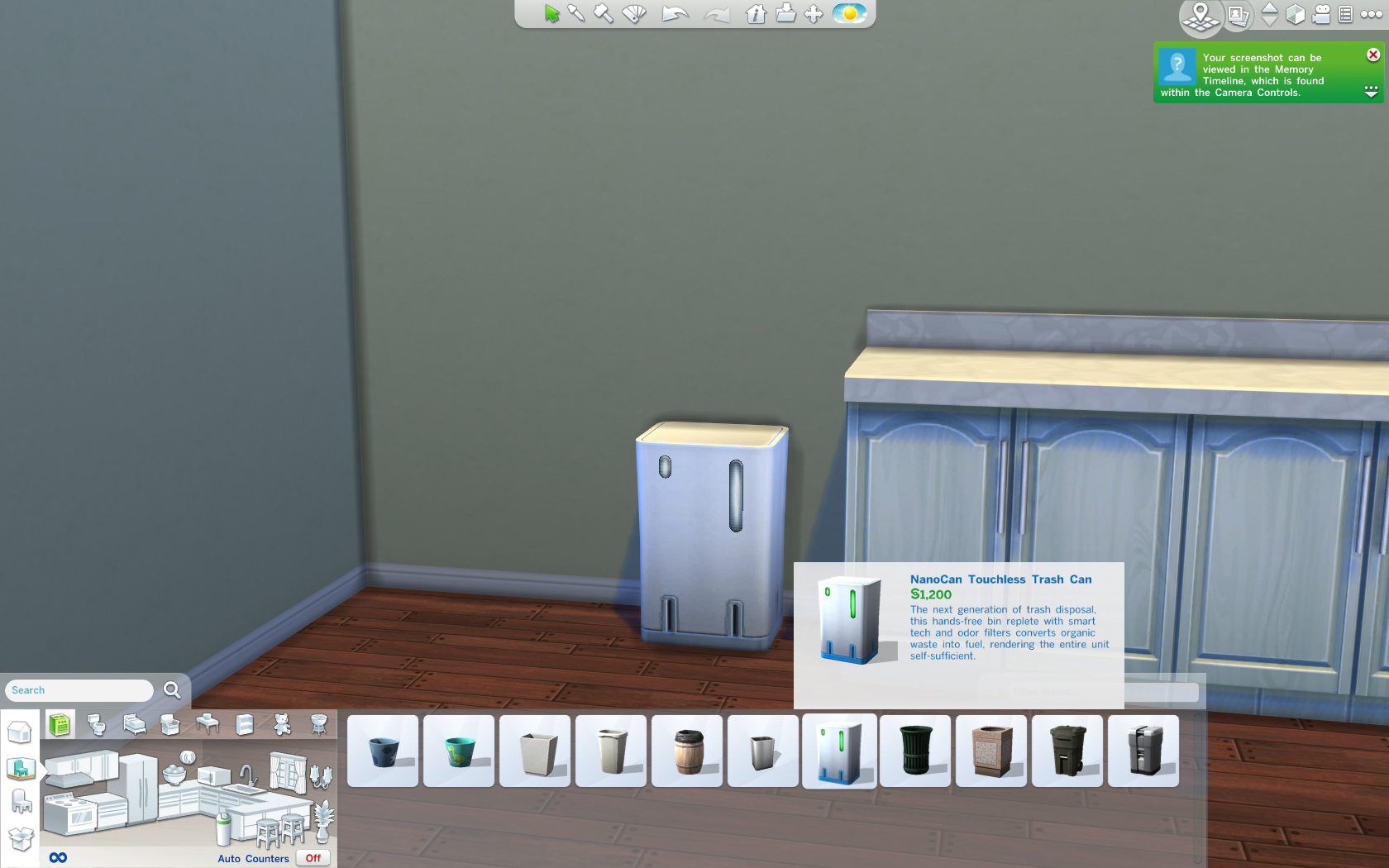 Mod The Sims Nanocan Touchless Trash Can Override