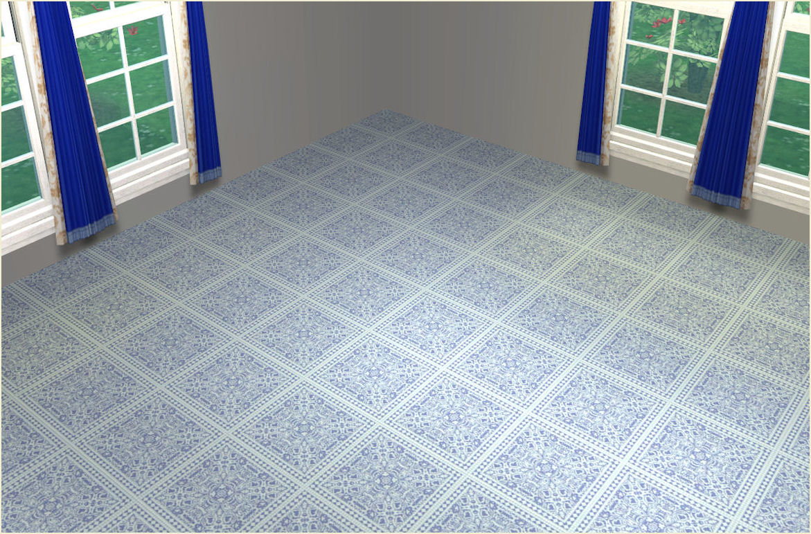 Mod The Sims Vintage Floor Tile Set