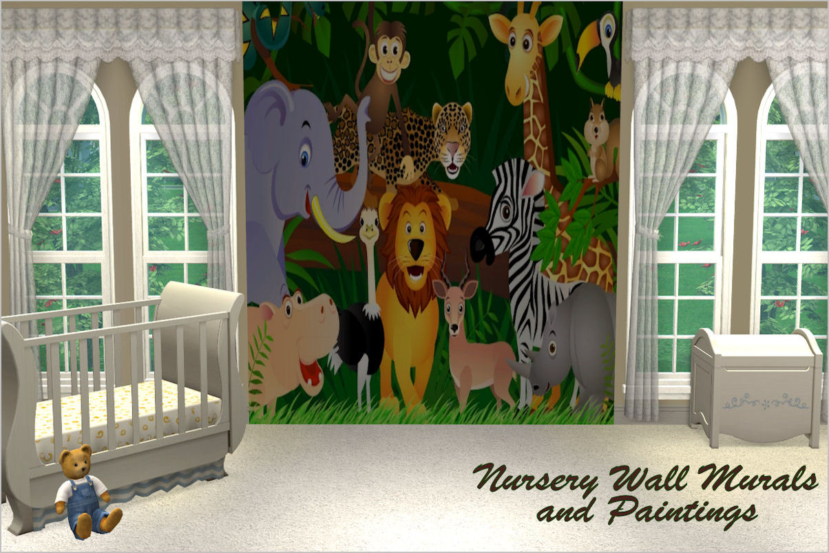 Mod The Sims Nursery Wall Murals And Paintings