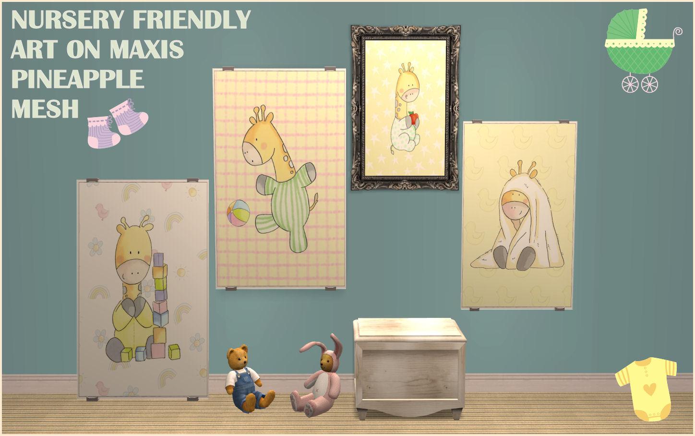 Mod The Sims - Nursery Friendly Art