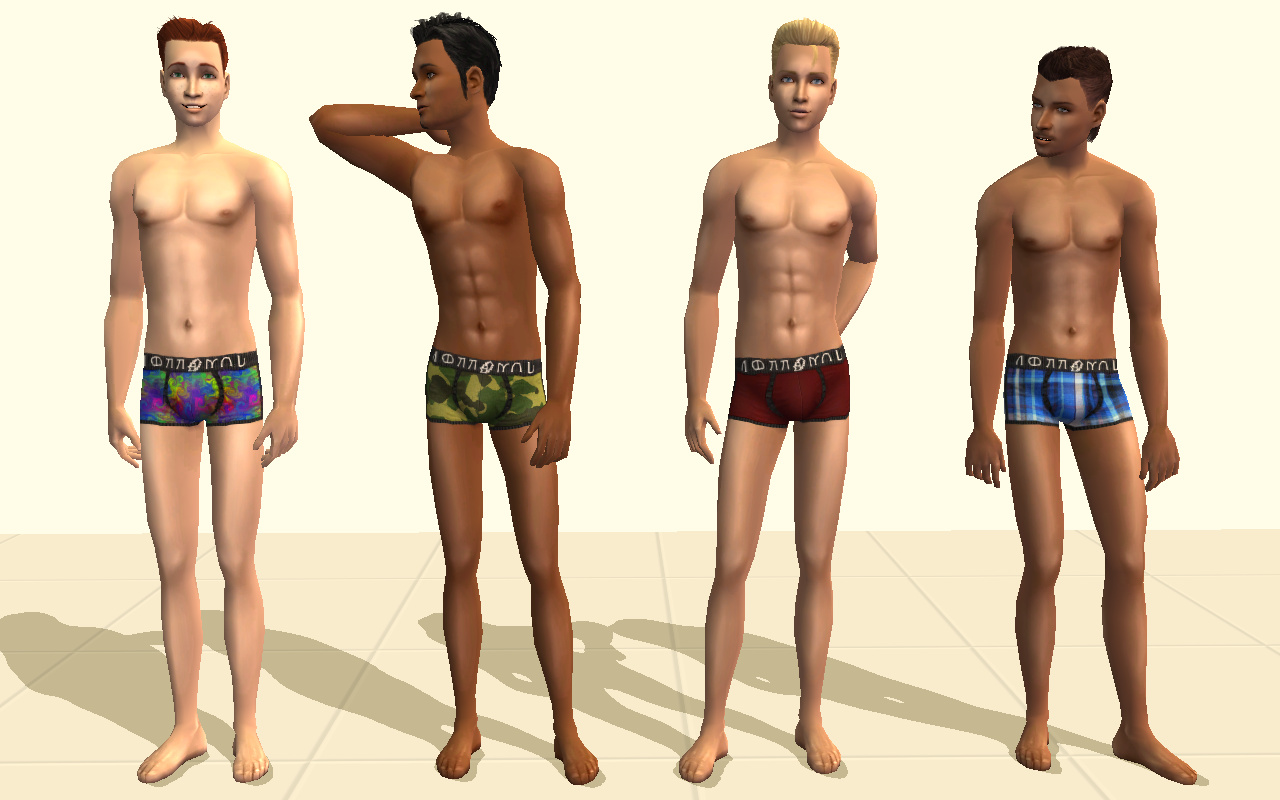 Mod The Sims Lots Of Men S Simlish Brand Undies 80 Male