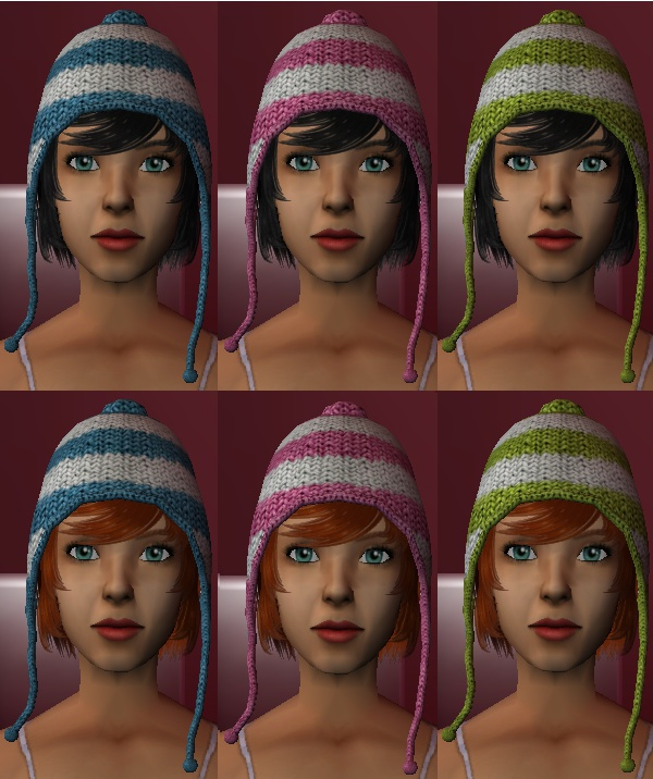 52fa8817d9e Mod The Sims - Nouk Winter Hat in Simgaroop s colors