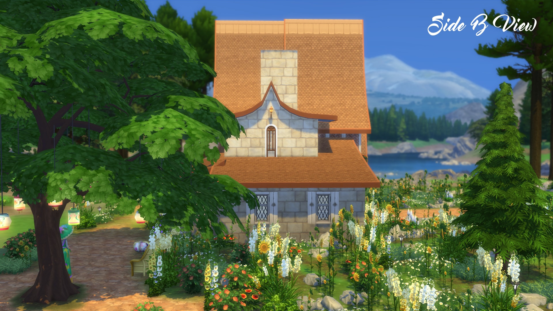 Mod the sims fantasia 3br 2ba vacation cottage no cc for Vacation cottage