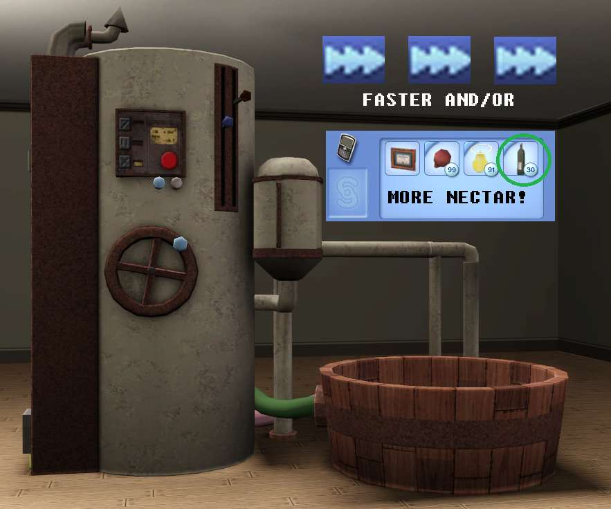 mod the sims faster nectar making and or more bottles