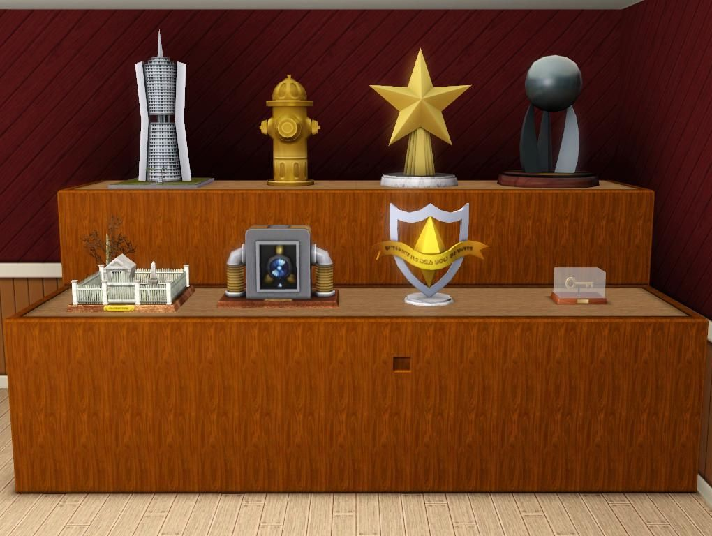 Mod The Sims Showbiz Profession Amp Other Trophies For