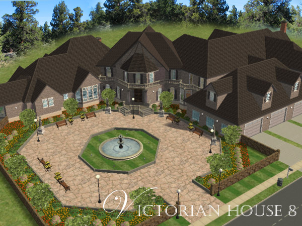 Mod the sims victorian house 8 mansion for How to build a victorian house