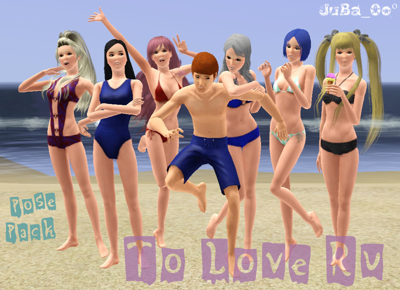 Mod The Sims - To Love Ru pose pack