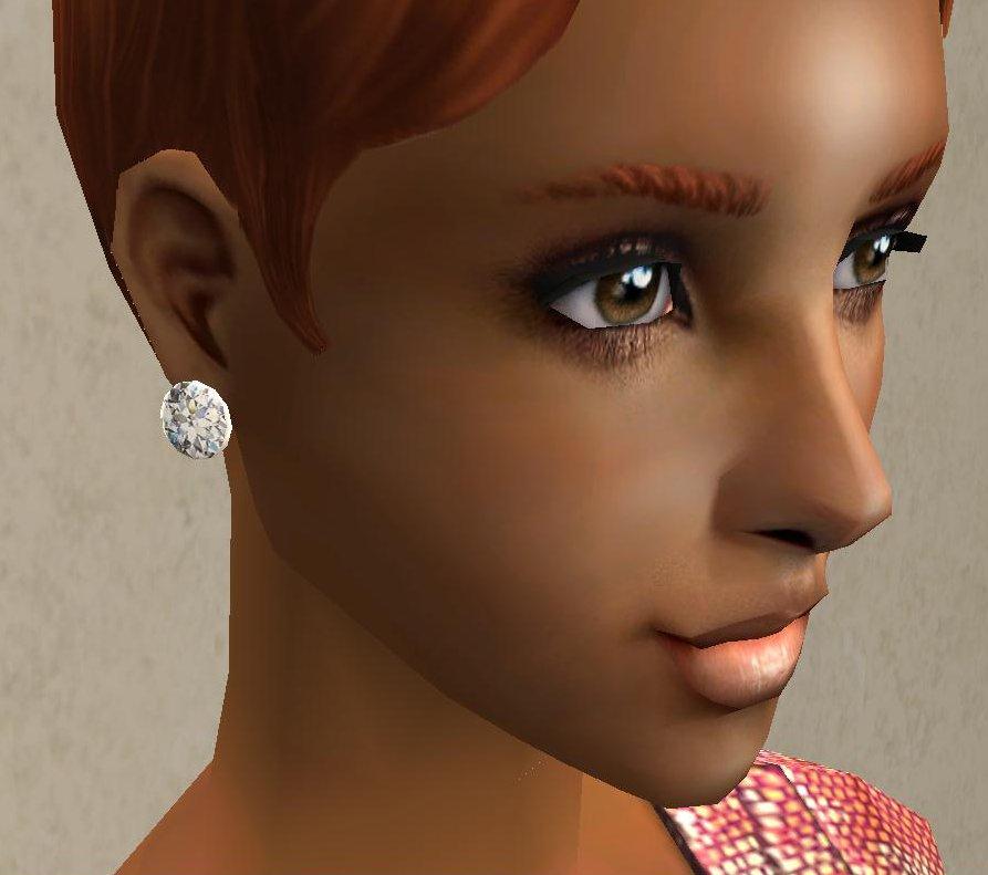 Sims  Cc Diamond Earrings