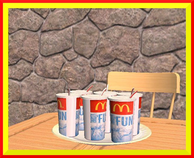 Mod the sims updated daislia 39 s mcdonald 39 s deco food edible - Deco snack ...
