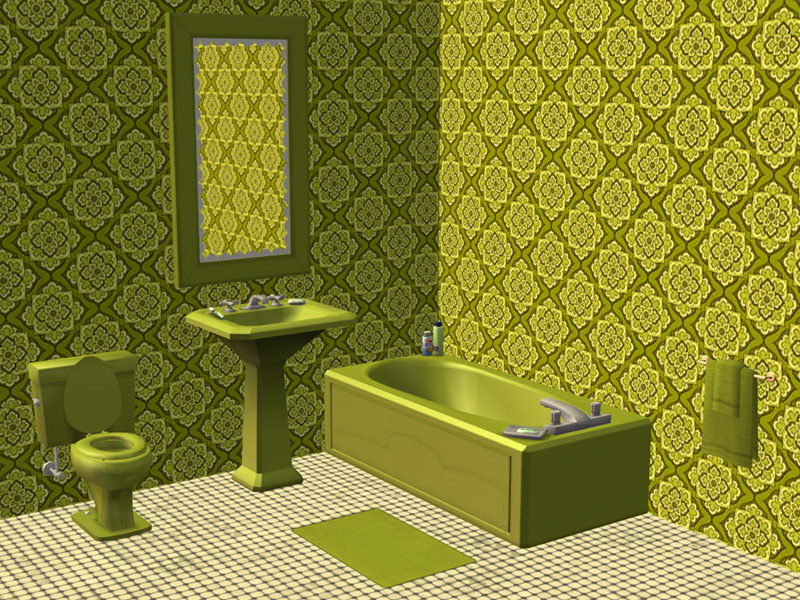 Mod The Sims Coordinated Bathroom Items 2 Groovy Seventies