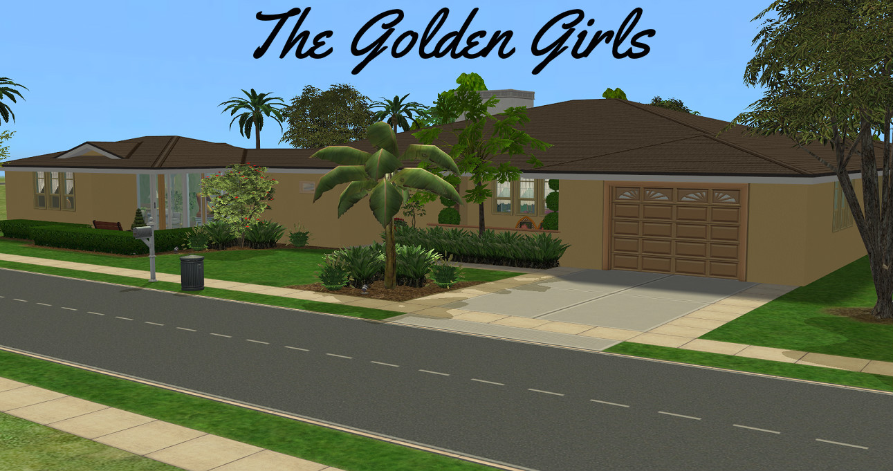 mod the sims the golden girls house no cc vintage