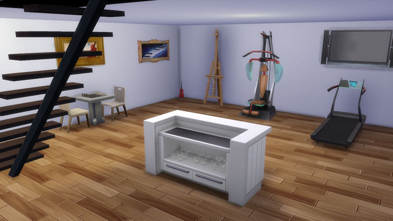 Mod the sims natural mansion cc free for Activity room