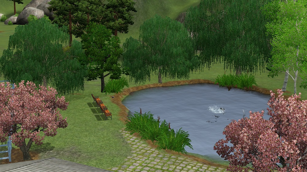 Sims  Build Mode Pond