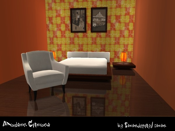 Mod The Sims Modern Citrone Wallpapers