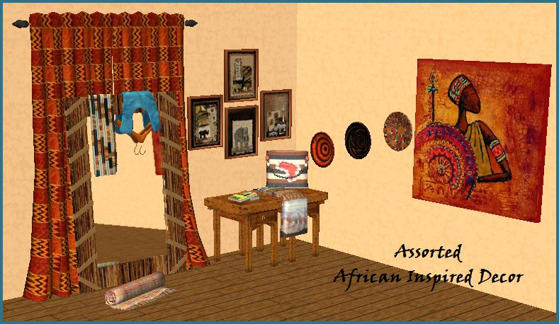 Mod the sims assorted african inspired decor for Decoration maison games