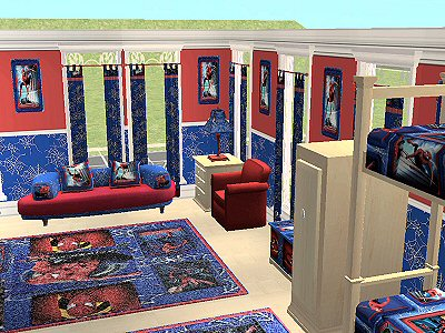 spiderman bedroom. Advertisement  Mod The Sims McAlli Spiderman bedroom set