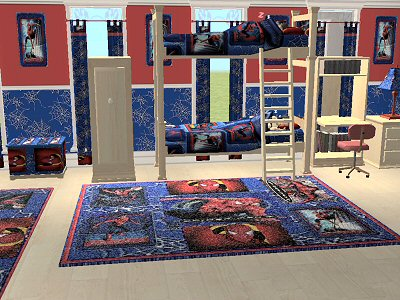 Mod The Sims - McAlli Spiderman bedroom set